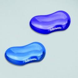 Reposamuñecas flexible, Fellowes Crystal Flex Blue
